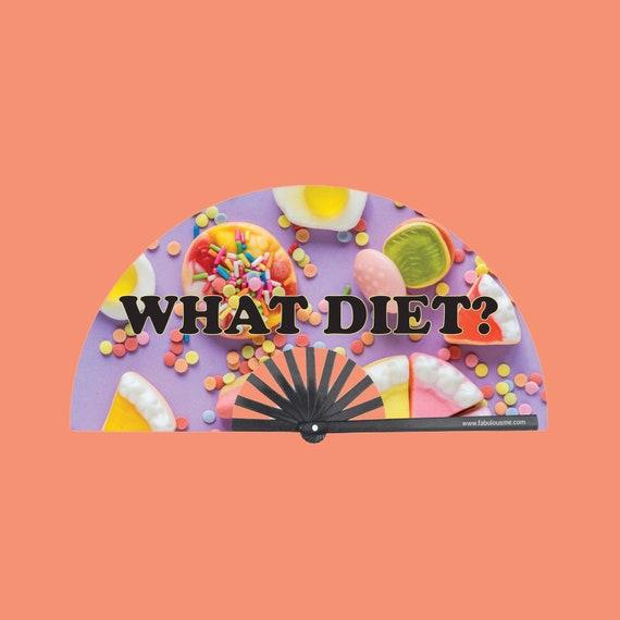 What Diet Fan (UV GLOW) - Circuit Party Fans
