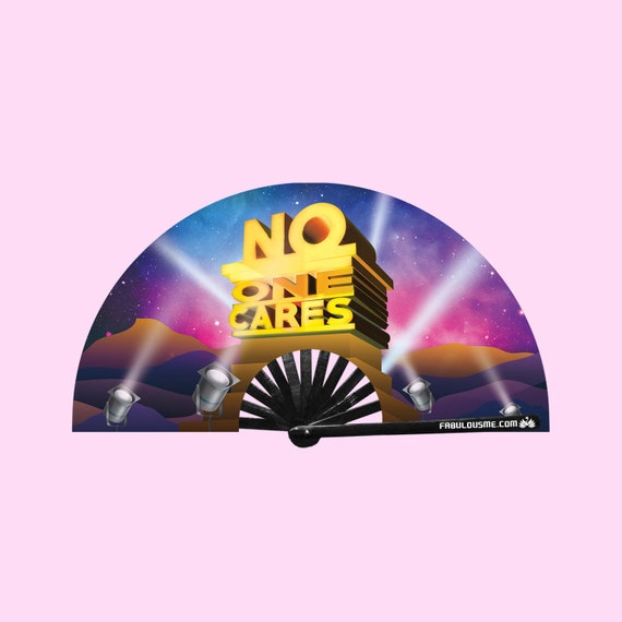 No One Cares Fan (UV GLOW) - Circuit Party Fans