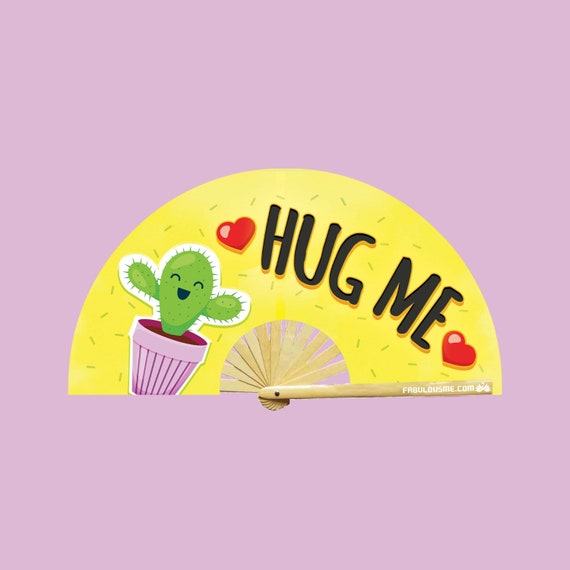 Hug Me Fan (UV GLOW) - Circuit Party Fans