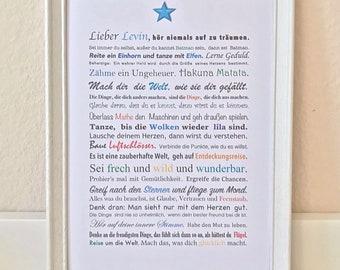 Wish Print Star (for Boys)