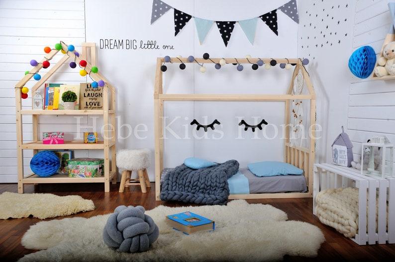 Kids bedroom house shaped shelf or wooden house shelf nursery shelf