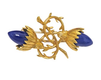b972d02e9 Tiffany & Co. Jean Schlumberger Gold Lapis Brooch Pin
