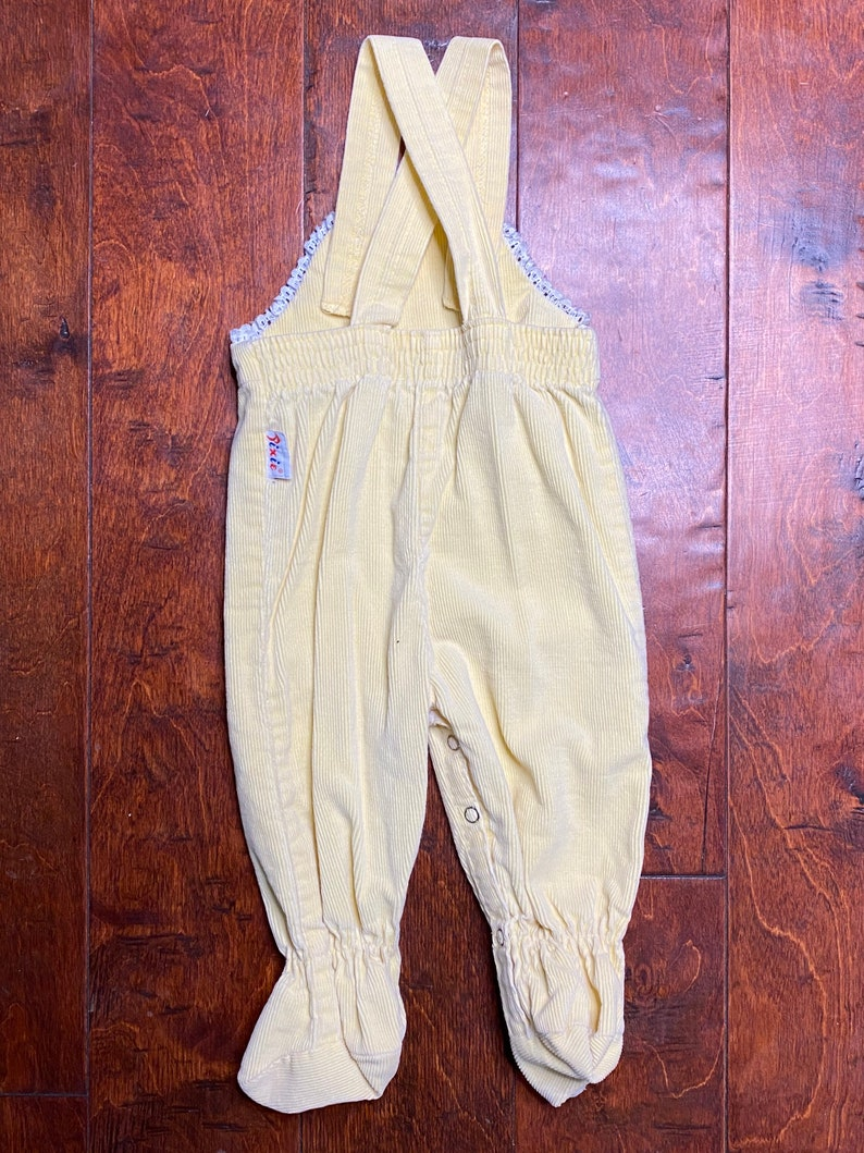 Vintage Pixie Playmates Footed Overalls Size 69 Months