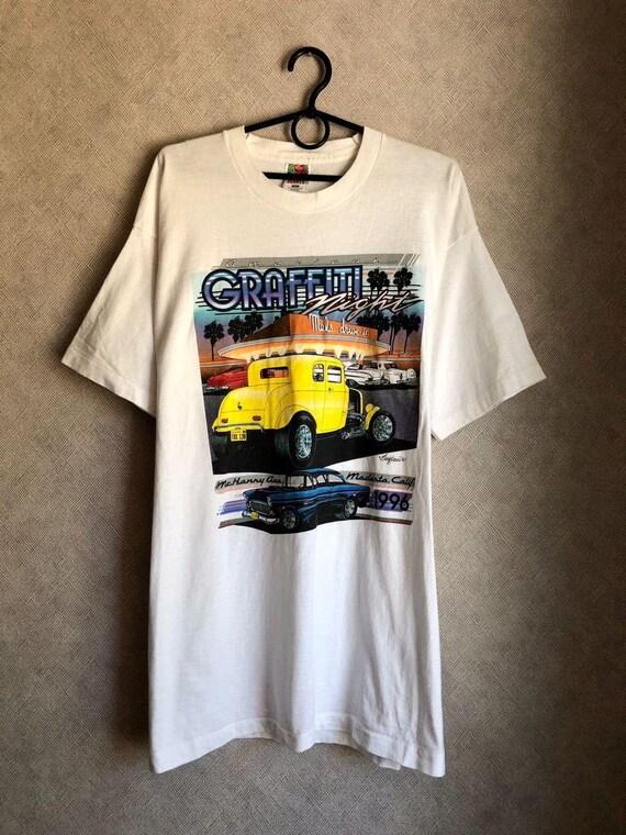 Vintage 90s American Graffiti car show t-shirt