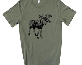 Moose Green Tee CLEARANCE