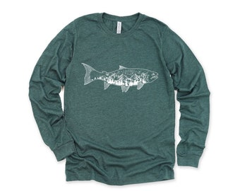 Women/'s Personalized Salmon Fishing T-Shirt Vintage Salmon Fishing Shirt Tee Shirt Men/'s Gift Custom Salmon Shirts