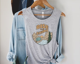 Adventure Shirt Wanderlust Cute Summer Shirt Nature Tank Top Forest Camping Racerback Tank Top Gift for Her Mountain PNW