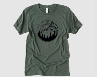 Mens Shirts, PNW Shirt, Graphic Tees, Gift for Men, Nature Shirt, Mountain Shirt, Nature Lover Gift, Mens T-Shirts, Camping Shirts, Wander