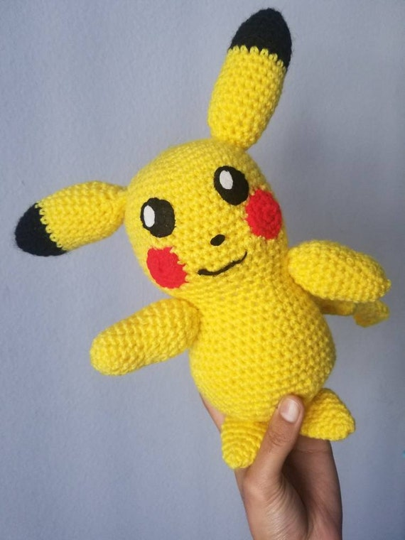 Pikachu Detective Pikachu Plush Crochet Pokemon Gift For Etsy