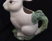 Vintage Pizzato Bunny/Rabbit Jug/water jug made in Italy/ceramaic water pitcher