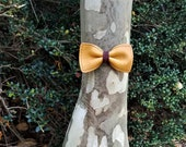 Bison Leather Bow Tie