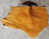 Leather Bison Hide Piece 5.15 SqFt Cognac