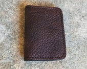 Bison Leather Vertical Mocha Wallet - The Jefferson