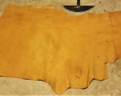 Leather Bison Hide Piece 12.51 SqFt Cognac