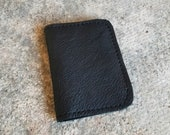 Bison Leather Vertical Black Wallet - The Jefferson