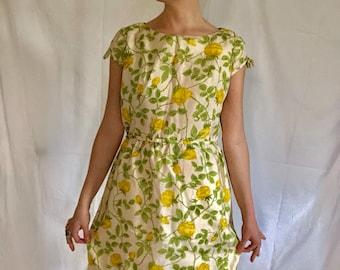 667ccc3f6c4 Vintage yellow dress | Etsy