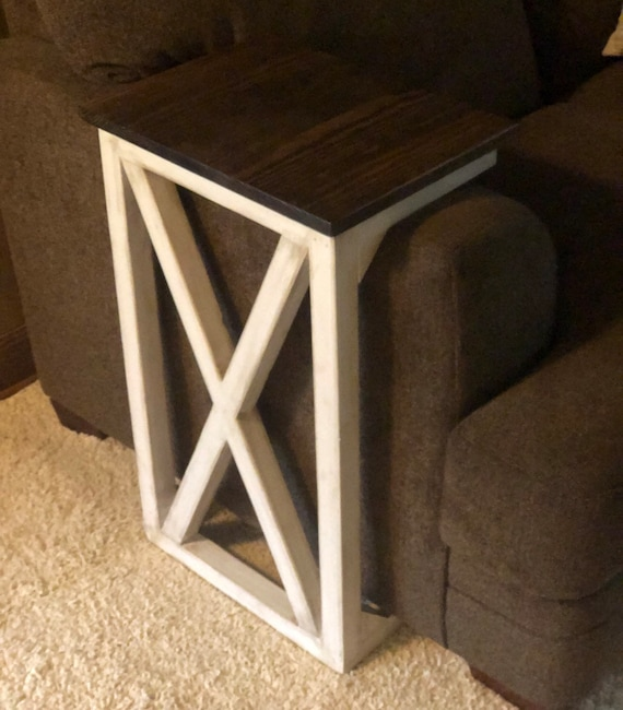 Enjoyable Sofa Arm Table Farmhouse Table Laptop Table End Table Rustic Sofa Side Table Caraccident5 Cool Chair Designs And Ideas Caraccident5Info