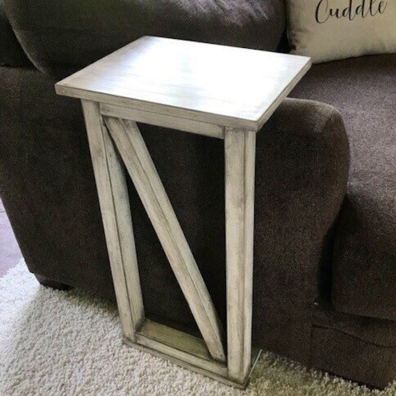 Marvelous Sofa Arm Table Laptop Table Rustic End Table Eating Tray Farmhouse Table Sofa Arm Tray Caraccident5 Cool Chair Designs And Ideas Caraccident5Info