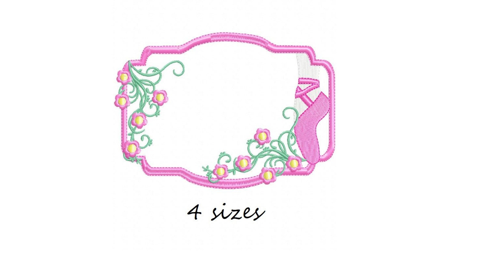 ballerina shoe frame embroidery designs frame embroidery design ballerina machine embroidery pattern ballet embroidery file ball