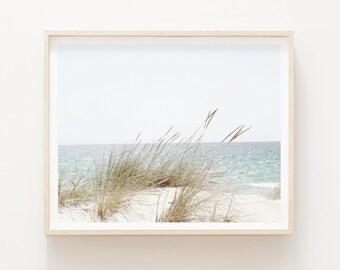 Landscape Beach Photography, Pastel Beach Print, Printable Beach Wall Art, Ocean Print, Coastal Wall Decor, DIGITAL DOWNLOAD