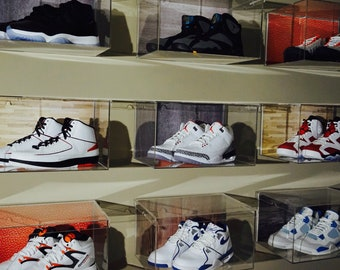 Clear Plastic Wall Mount Floating Sneaker Display Set of 12
