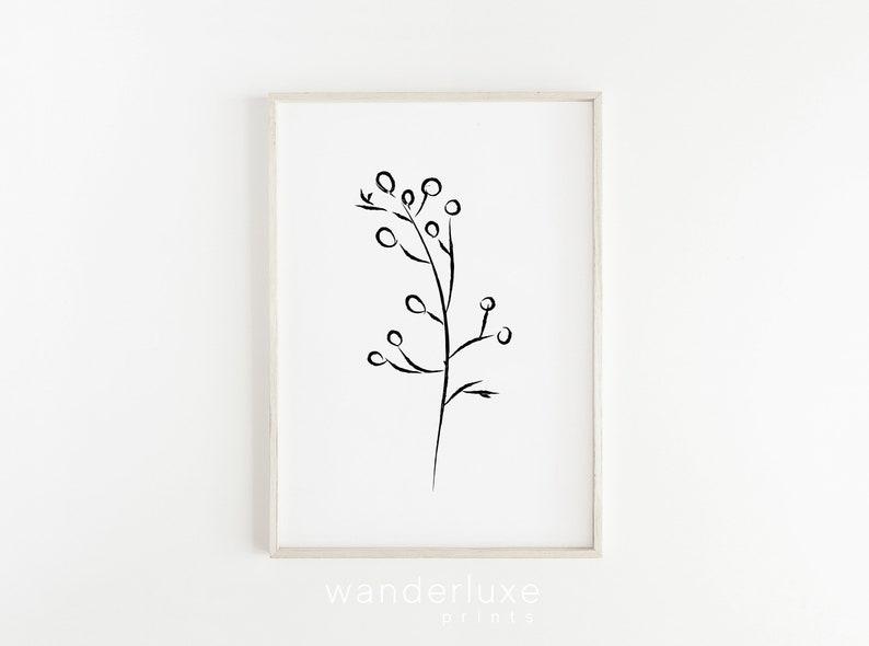 Superb Minimal Line Art Tumblr Room Decor Modern Leaf Drawing College Apartment Decor Artwork Instant Download Black White Botanical Print Download Free Architecture Designs Scobabritishbridgeorg