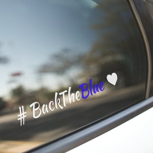 Multiple Sizes Available Thin Blue Line Bow Sticker Outdoor or Indoor