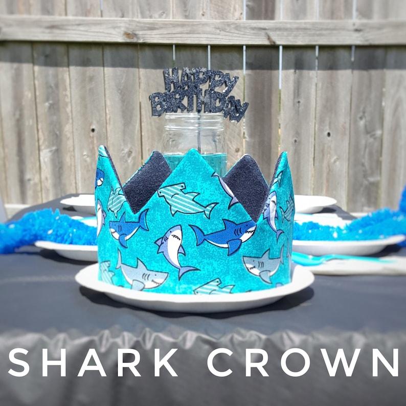 Shark Crown  Shark Birthday  Birthday Crown  Ocean theme Birthday  Party Crown Party Hat