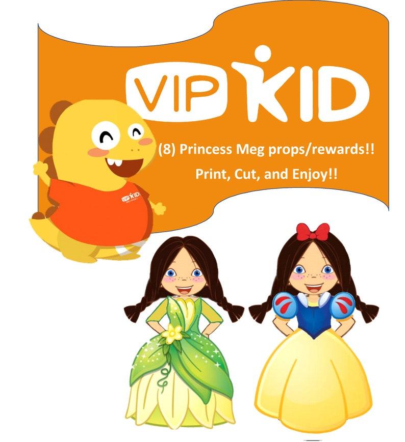 picture regarding Vipkid Printable Props titled Lovable Princess Meg Props/Benefit - VIPKID Instructor - Electronic Down load - Printable