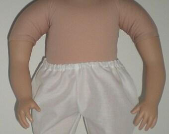 """White Undies Panties for 23/"""" My Twinn Doll"""
