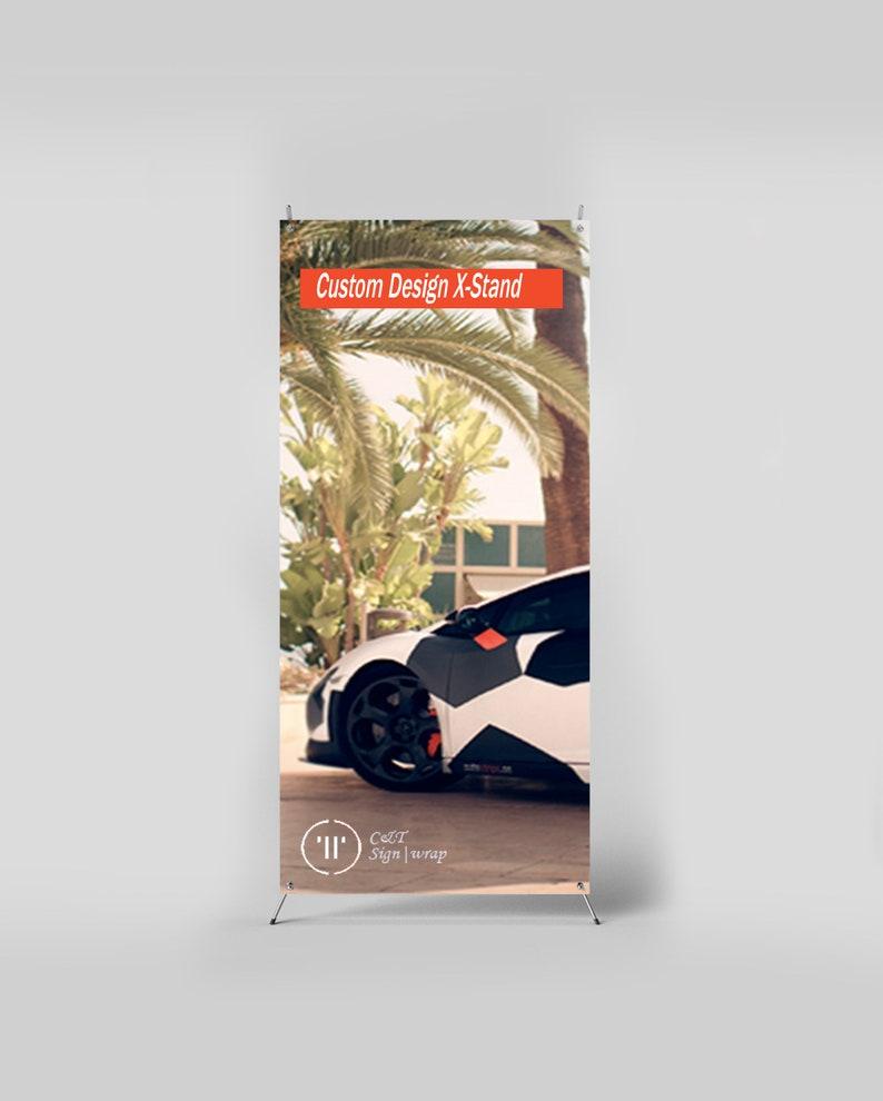 23X62 Custom Print X Stand Banners