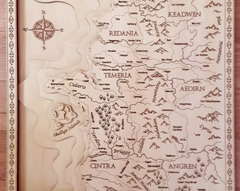 The witcher map | Etsy