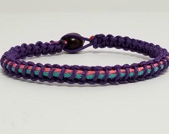 c49e0a8c8 Thyroid Cancer Awareness Microcord Bracelet * Purple / Pink / Teal  Awareness Ribbon Bracelet * Survivor Bracelet * Awareness Jewelry