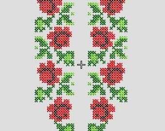 Cross stitch, Machine embroidery, Bulgarian embroidery, Shevitsa
