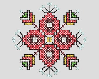 National Bulgarian embroidery, Machine embroidery, Cross stitch, Shevitsa
