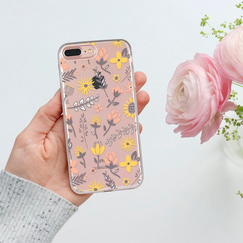 iphone 8 yellow flower case