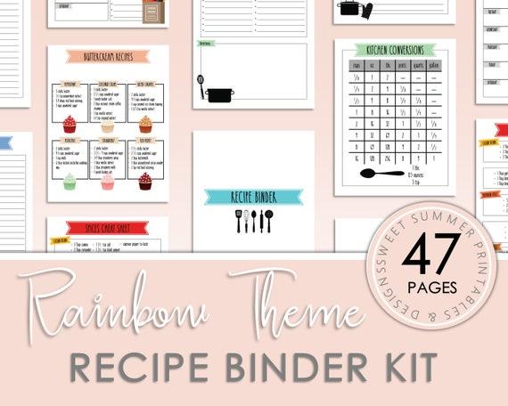 Recipe Binder Kit Printable Recipe Binder Kit Templates
