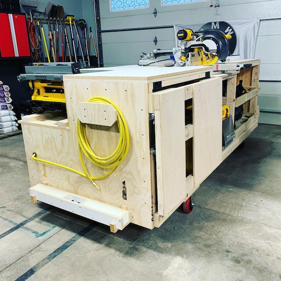 Excellent Pdf Mobile Project Center Workbench Plans Dewalt Kreg Miter Saw Stand Table Saw Outfeed Router Table Planer Stand Dust Collect Squirreltailoven Fun Painted Chair Ideas Images Squirreltailovenorg