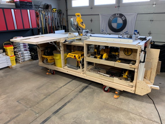 Fabulous Pdf Mobile Project Center Workbench Plans Dewalt Kreg Miter Saw Stand Table Saw Outfeed Router Table Planer Stand Dust Collect Squirreltailoven Fun Painted Chair Ideas Images Squirreltailovenorg