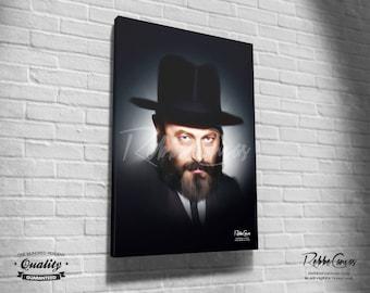 Beautiful Jewish Portrait - EARLY YEARS - Original Digital painting print on canvas - Chabad Lubavitcher Rabbi  Menachem Mendel Schneerson