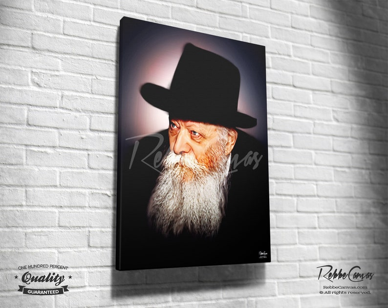 Beautiful Jewish Portrait  RABBI  Original Digital painting image 0