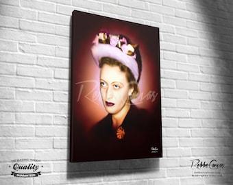 Beautiful Jewish Portrait - RABBANIT - Original Digital painting print on canvas - Chabad Lubavitcher Rabbi  Menachem Mendel Schneerson