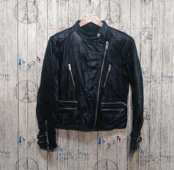 Black Leather Jacket Women Leather Biker Jacket Wo