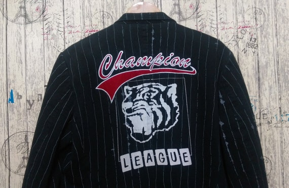 Vintage blend men's 90s Champion League player bla