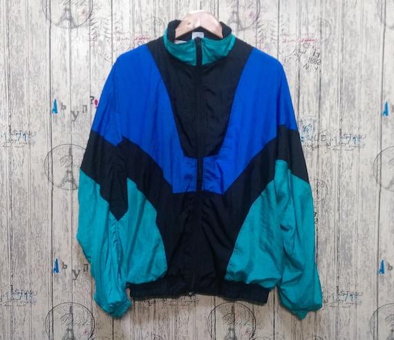 Vintage 80s Windbreaker Jacket/ Vintage Jacket Spo