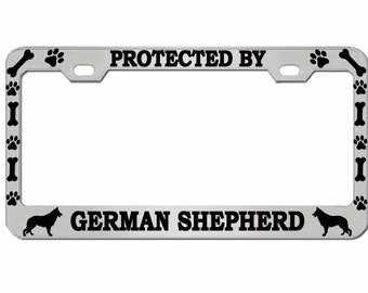 FRENCH BULLDOG DOG DOGS CHROME License Plate Frame Tag Holder