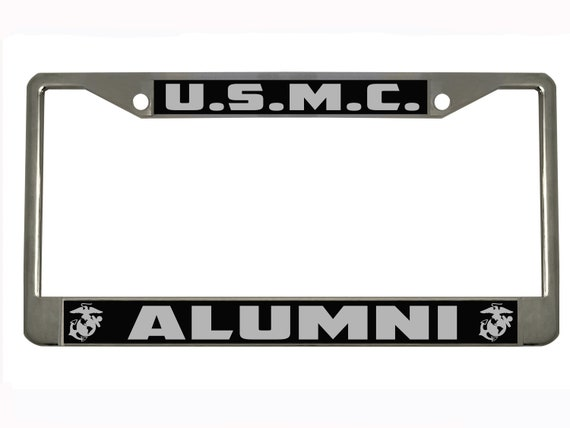 US Marine Corps Alumni Black License Plate Frame