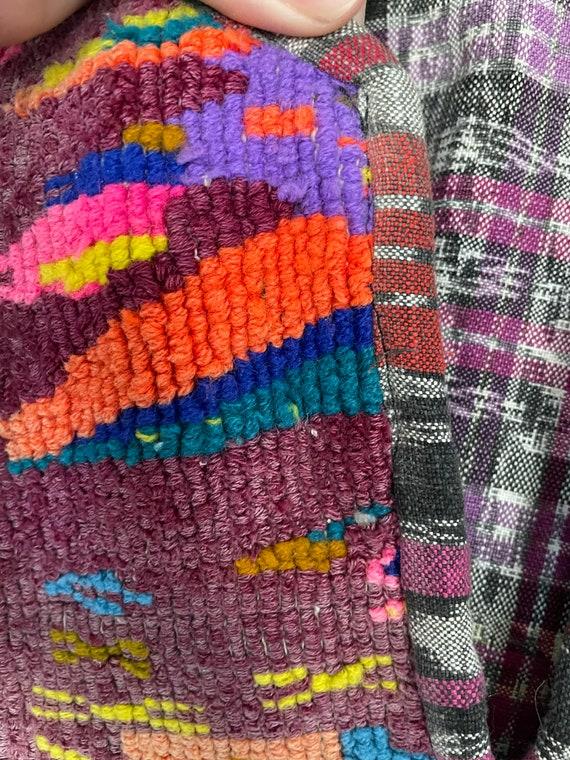 Vintage Guatemalan Embroidered Linen Poncho Smock… - image 6
