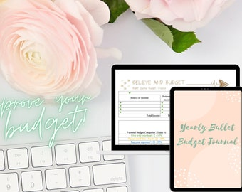 Yearly Budget Bullet Journal, Believe, Budget Planner, Printable Budget Planner Template, Monthly Budget, Expense Tracker Yearly, Excel