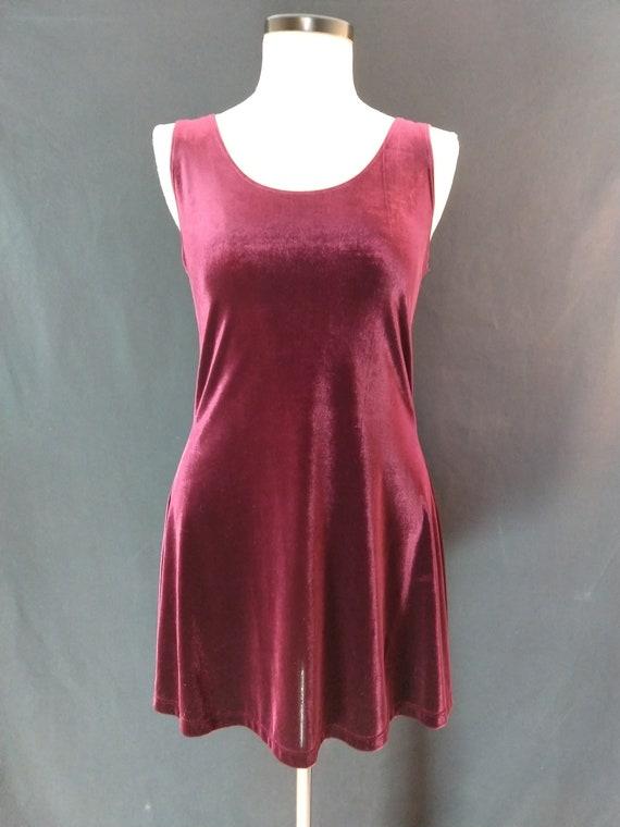 Velvet Christmas dress, burgandy velvet, vintage v
